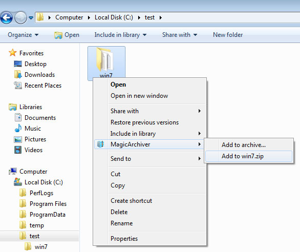 Create Zip Or 7z Archive
